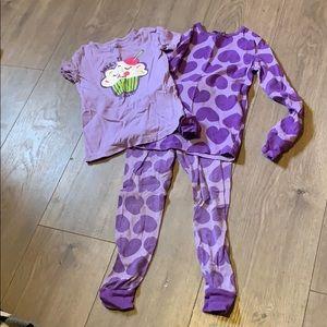 Wonderkids 5t sweet as sugar cupcake heart pajamas